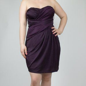 Purple Express Strapless Dress